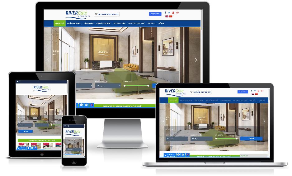 Giao diện website bất động sản – RiverGate