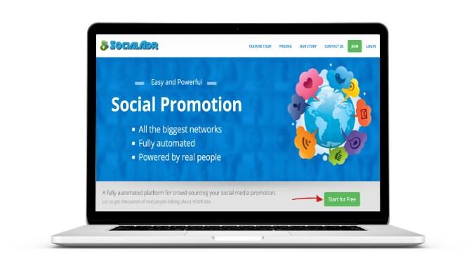 Laptop Socialadr Screeny