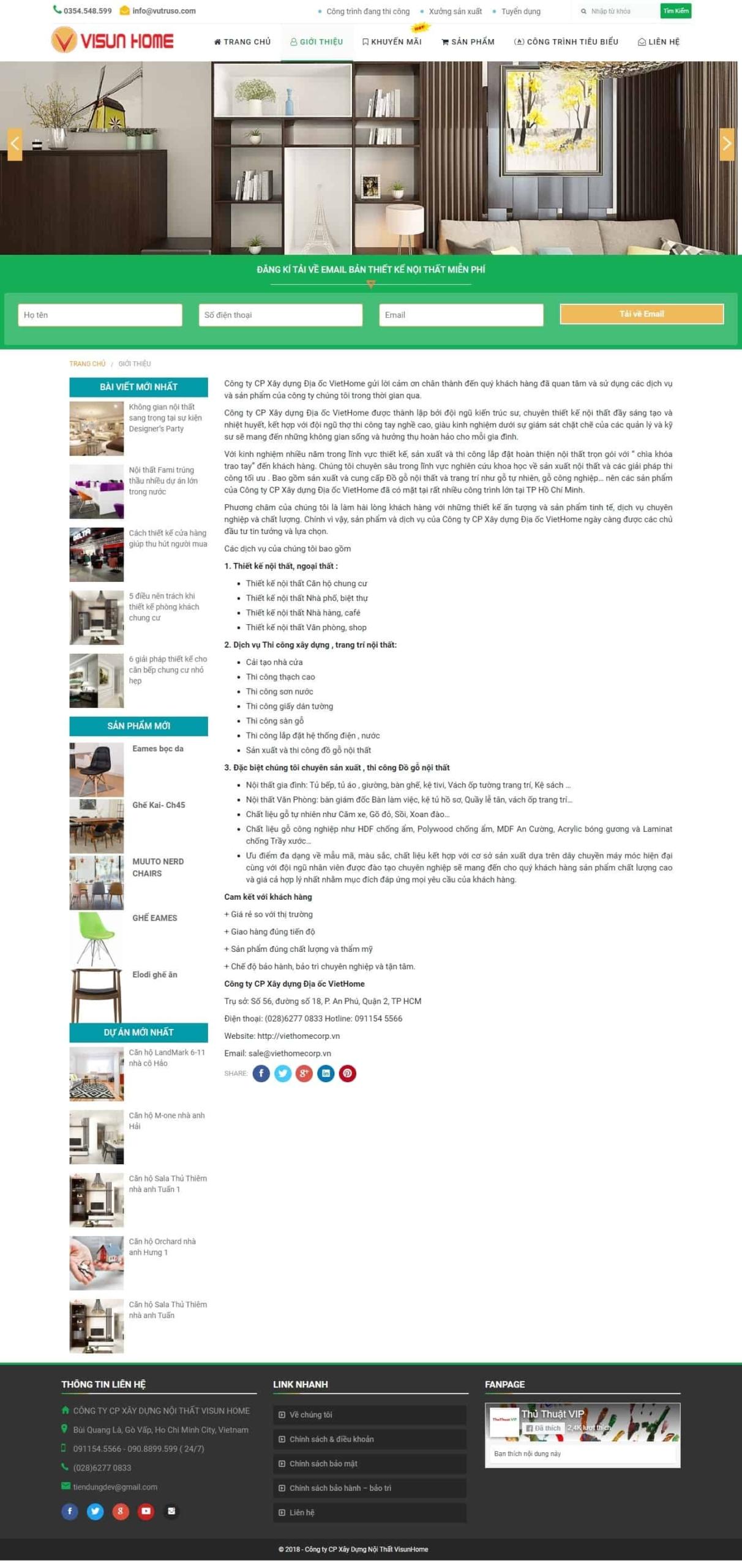 Mẫu theme website nội thất, xây dựng – Mix