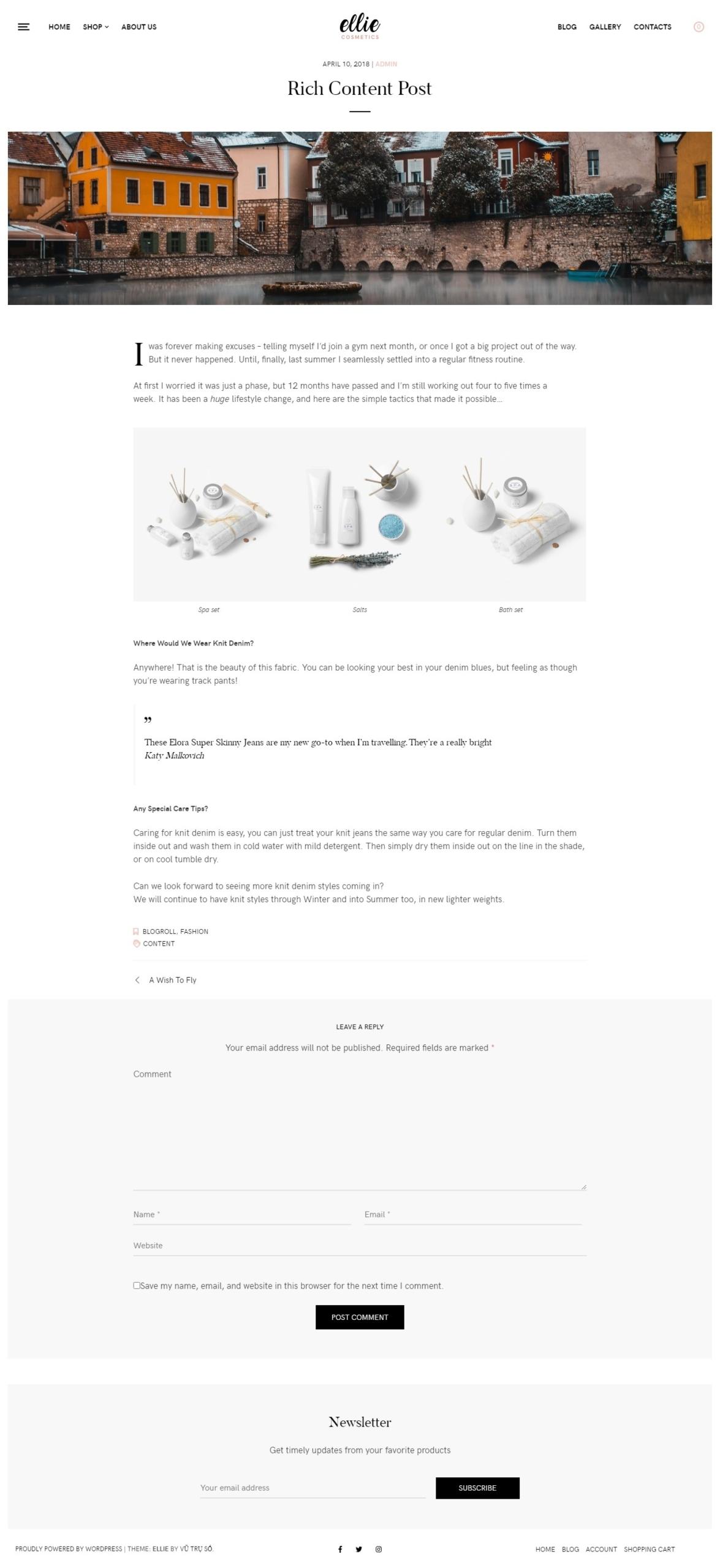 Mẫu website bán hàng online ELLIE