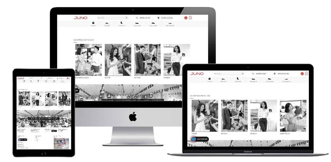 Giao diện shop bán giày online – Juno