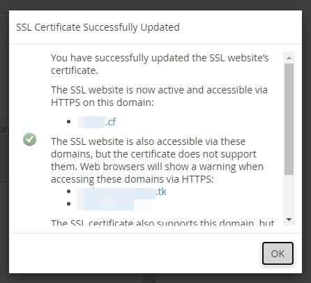 cài đặt thành công ssl