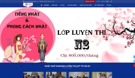 Mẫu website WordPress dạy học tiếng Nhật – DRM