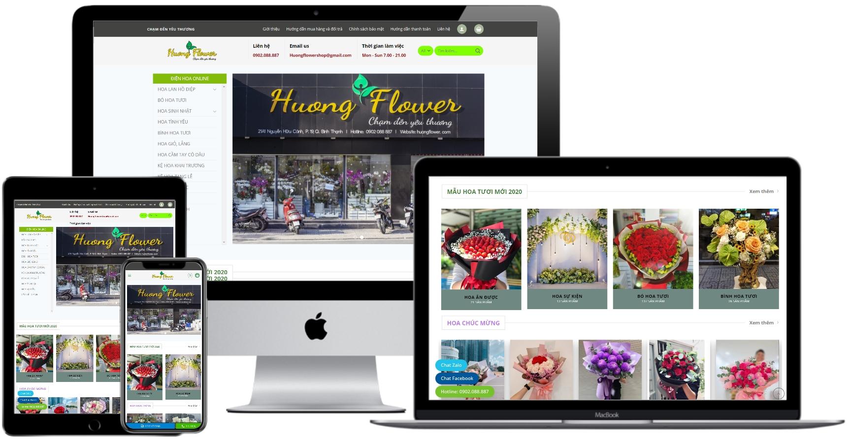 Mẫu website WordPress bán hoa tươi – HF