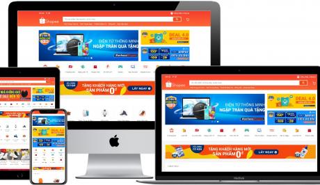 Mẫu website bán hàng online giống Shopee