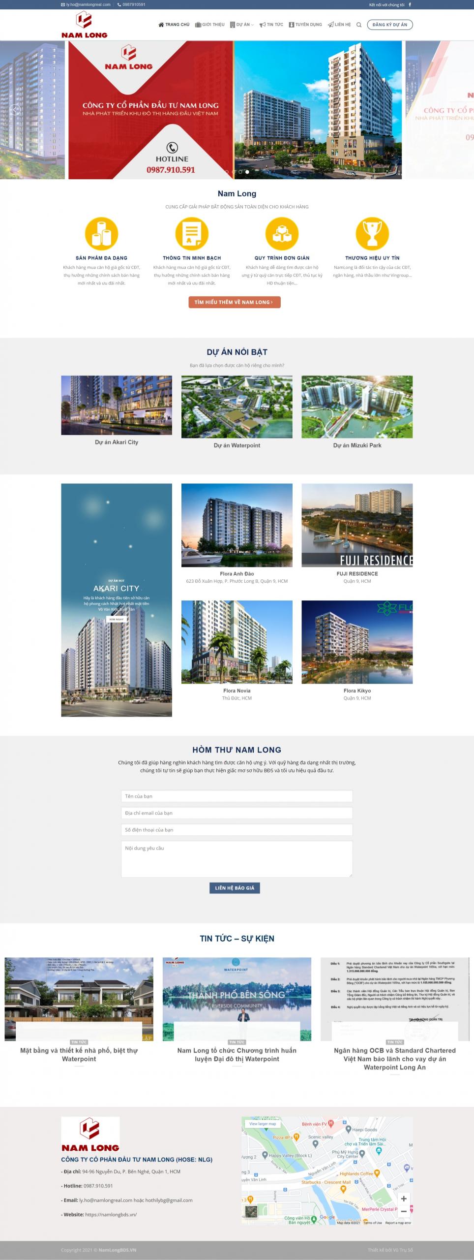 Mẫu theme bất động sản Flatsome – Namlong