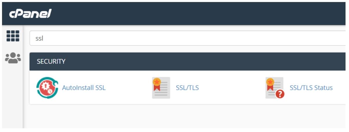 ssl tls option