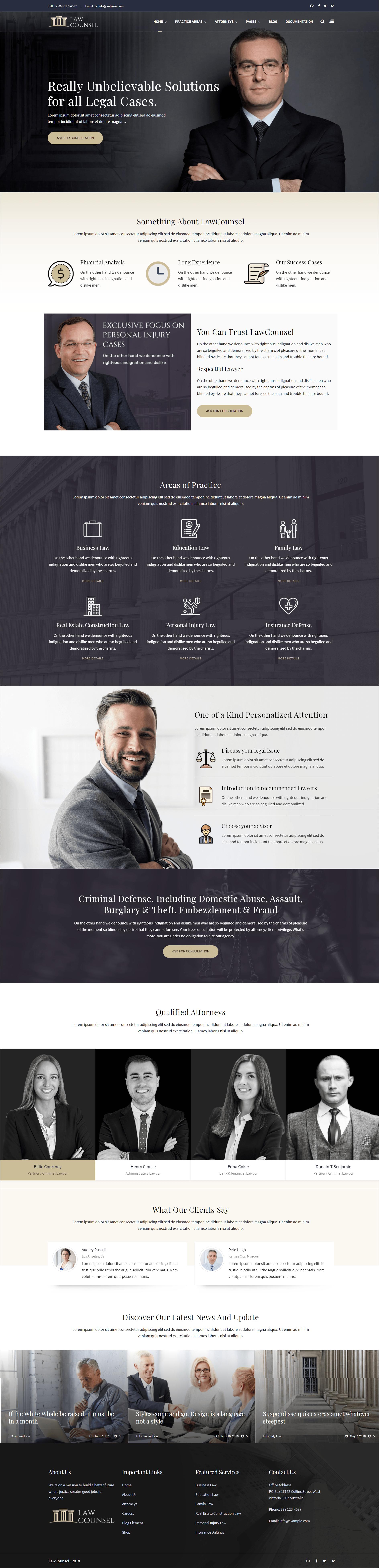 Mẫu website cho công ty Luật