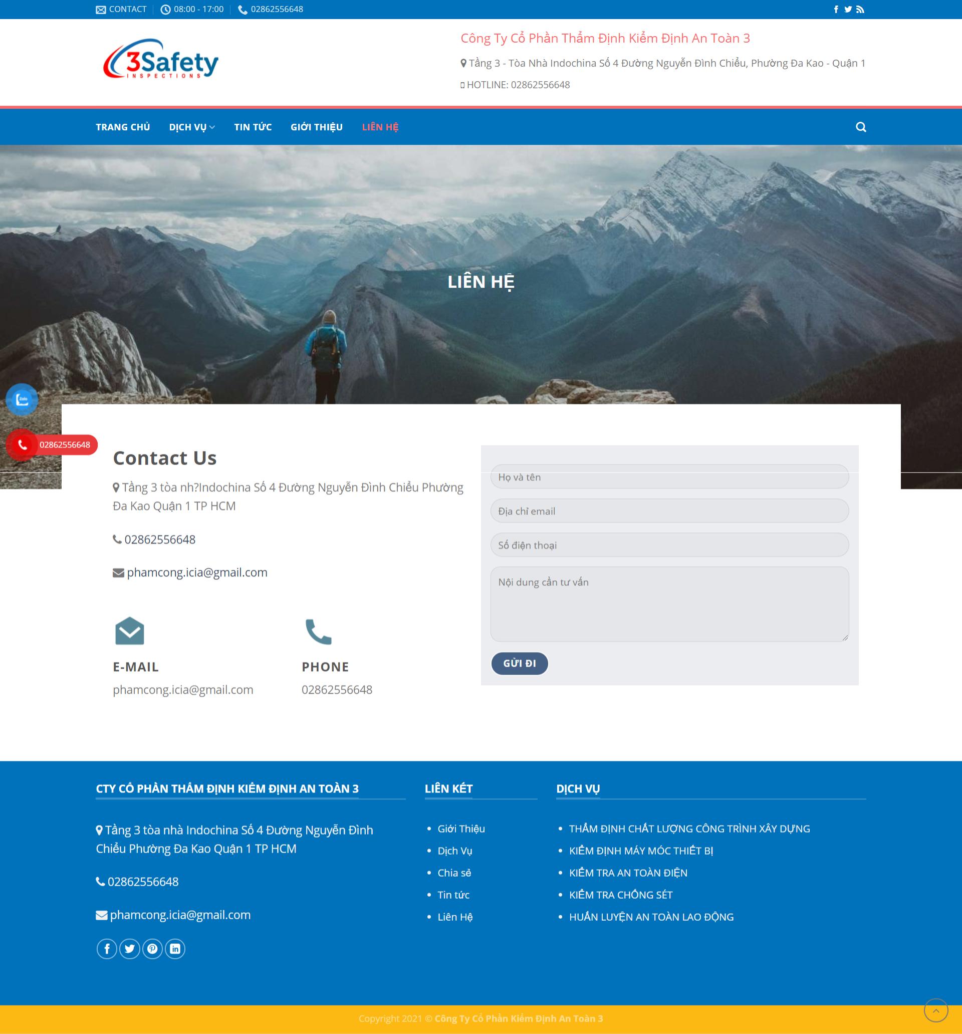 Quatest – Mẫu website đơn giản giá rẻ cho công ty