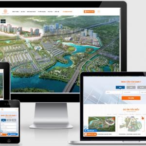 mẫu giao diện website mua bán ký gửi bất động sản