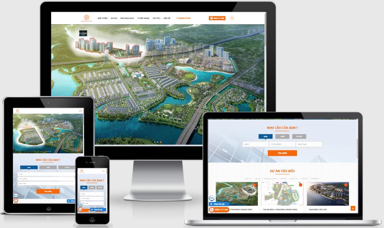 Mẫu giao diện web ký gửi, mua bán bất động sản – Nasa