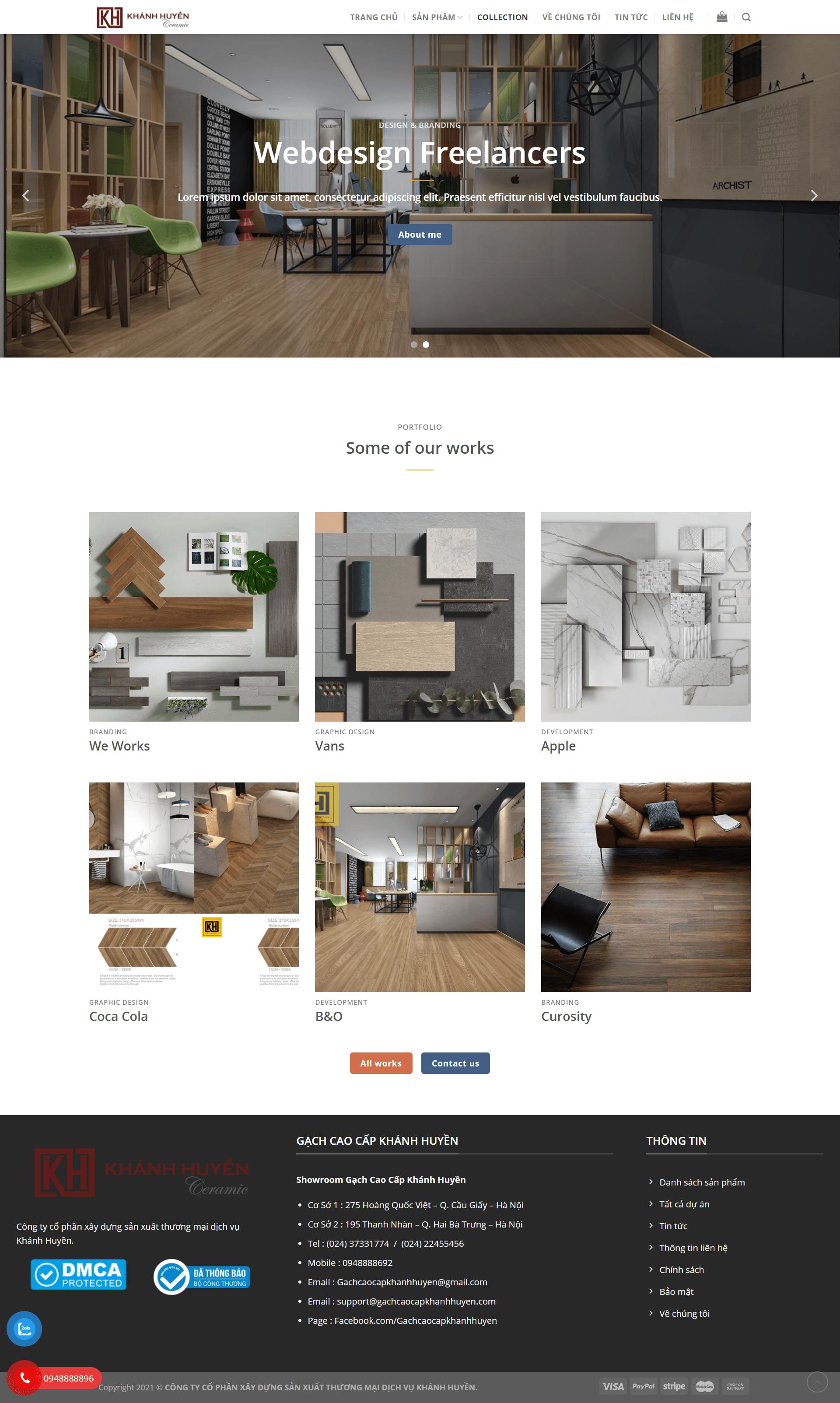Mẫu website bán gạch đẹp, chuẩn SEO – KH CERAMICS