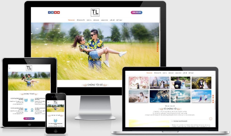 Mẫu website chụp ảnh studio chuyên nghiệp – TL Wedding