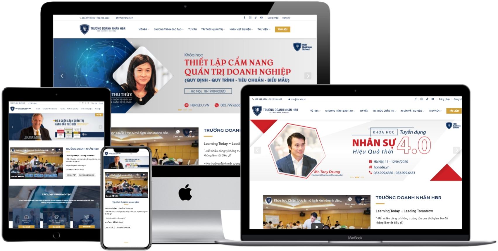 Mẫu website đẹp giáo dục – Trường doanh nhân