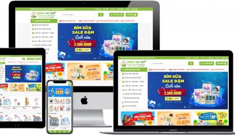 Mẫu shop WordPress – Web bán hàng mẹ và bé MeMip