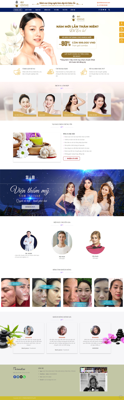 Mẫu website thẩm mỹ viện – Paradise 01