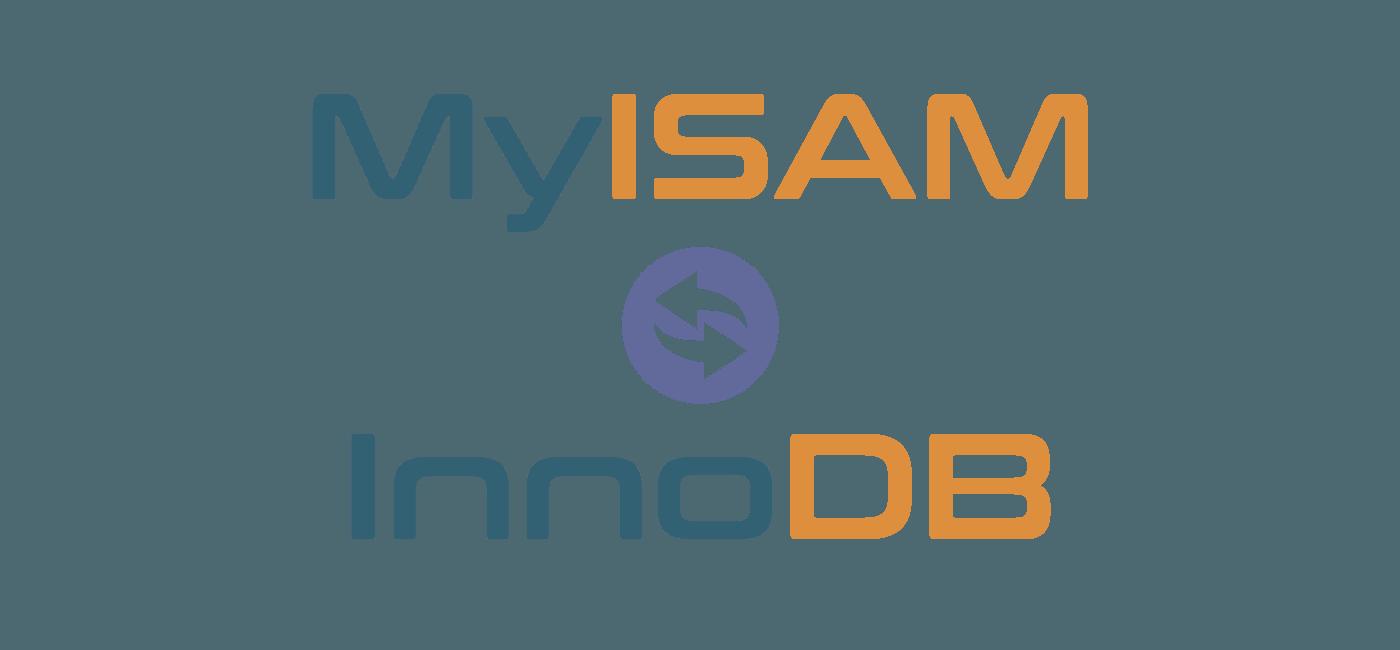 convert myisam to innodb
