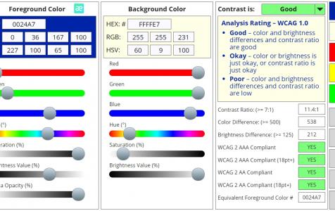 Công cụ điều chỉnh độ tương phản (contrast ratio) trong thiết kế web