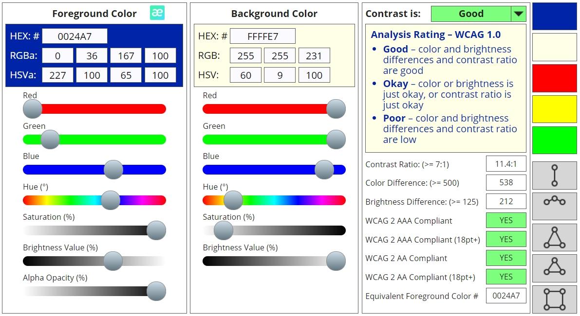 color contrast checker analyzer