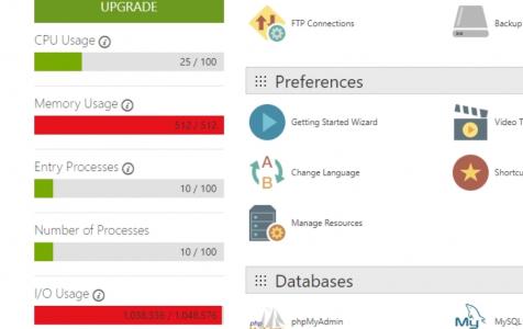 Sửa lỗi WordPress sử dụng I/O hoặc CPU cao trong Cpanel