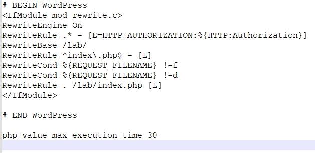 tăng thời gian thực thi php