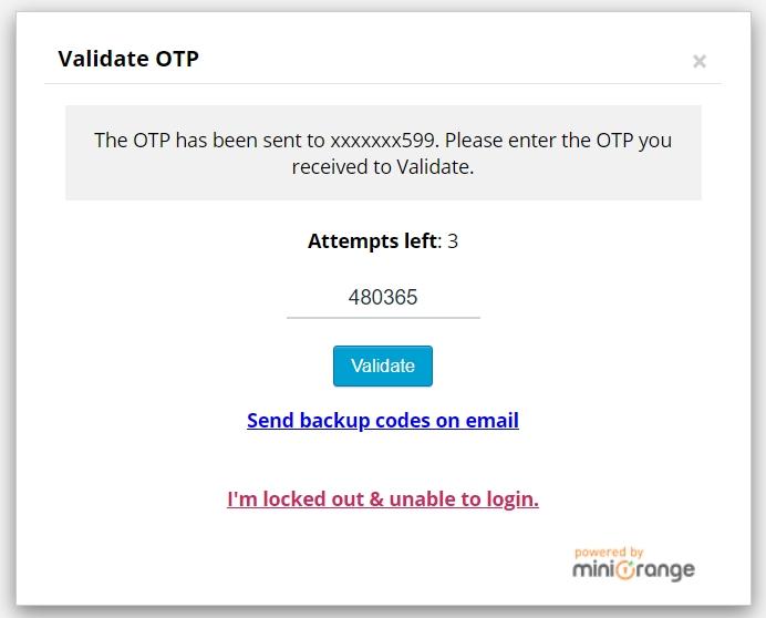 xác thực 2 bước với miniorange 2 factor authentication