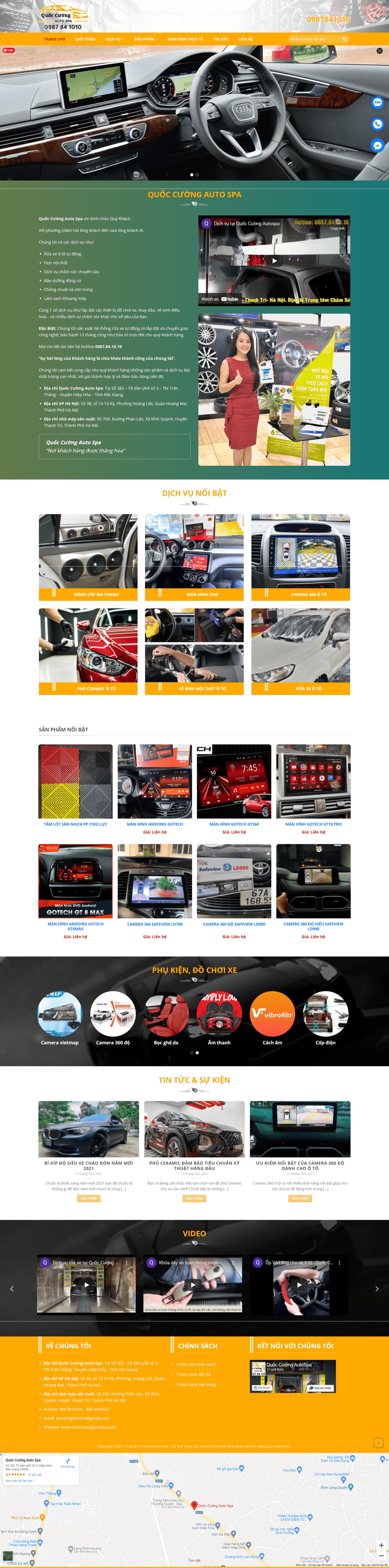 Mẫu website trưng bày ô tô – theme dịch vụ rửa xe ô tô