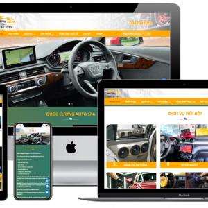 qc mẫu website rửa xe
